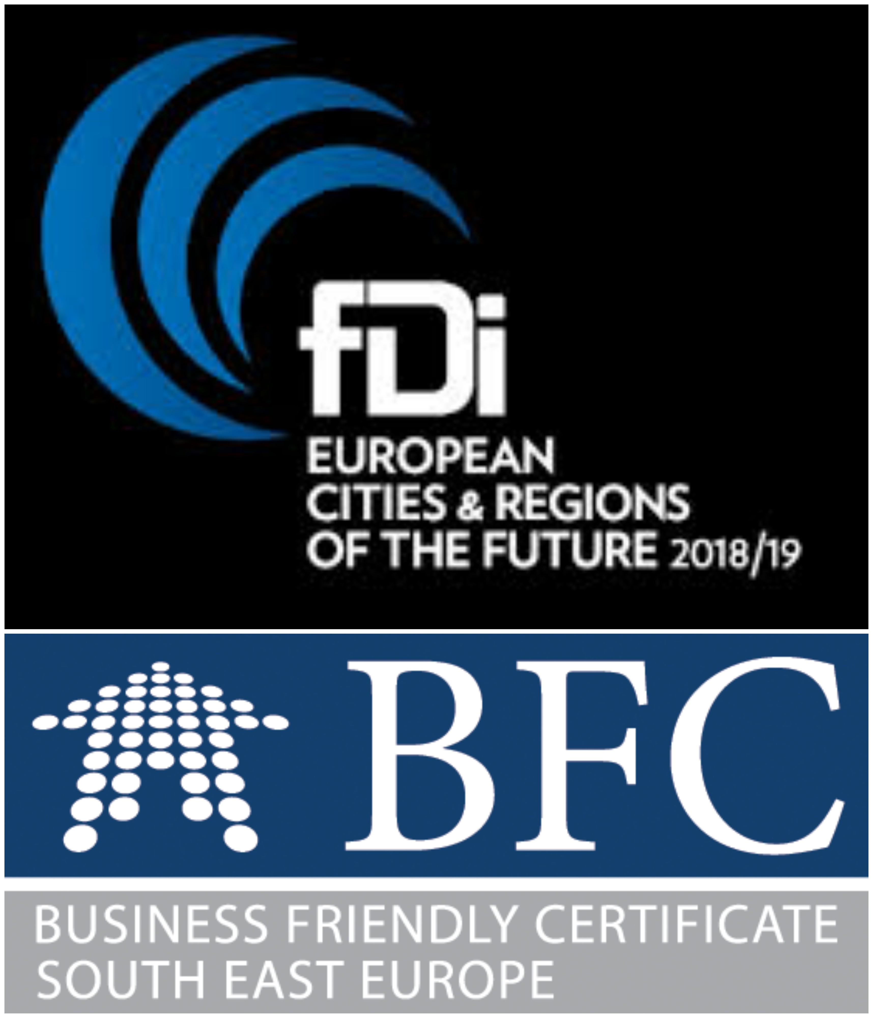 BFC SEE municipalites in fDi's European Cities and Regions of the Future 2018/19 report